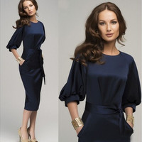New Sexy Women's Summer Casual OL Business Party Evening Cocktail Midi Dress [9305809223]