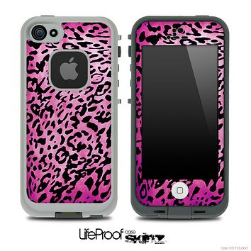 Cheetah Animal Print Hot Pink V5 Skin for the iPhone 5 or 4/4s LifeProof Case