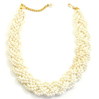 80's__Napier__Chunky Pearl Choker Necklace