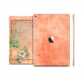 The Vintage Coral Floral Skin Set for the Apple iPad Air 2
