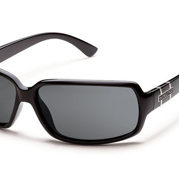Suncloud - Poptown Black Sunglasses, Gray Polarized Lenses