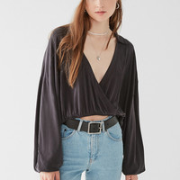 UO Dig It Surplice Cropped Top | Urban Outfitters