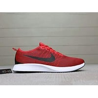 NIKE DUALTONE RACER comfortable and breathable running sports shoes F-A0-HXYDXPF Red