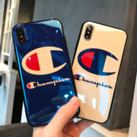 champion print phone shell phone case for Iphone6/6s/6p/7p/8p/7/8/x