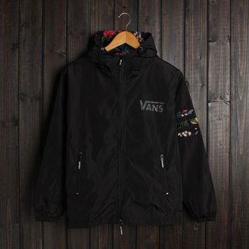 Men Vans Jacket Winter Fashion Stylish Alphabet Hats Double Layered Windbreaker [103858044940]