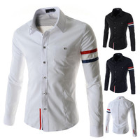 French Men's Fashion Style Slim Fit Dress Shirt