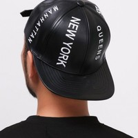 New York City Leather Snapback
