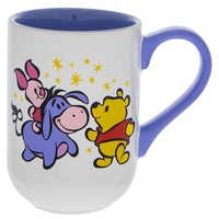 Disney Parks Winnie The Pooh Piglet Eeyore Cartoon Cuties Ceramic Coffee Mug New