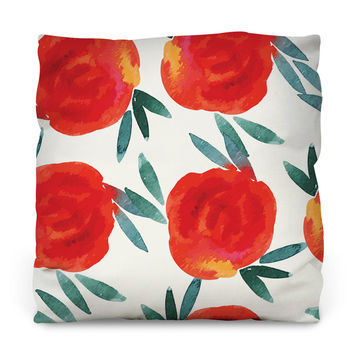 Kissed by a Rose Outdoor Throw Pillow