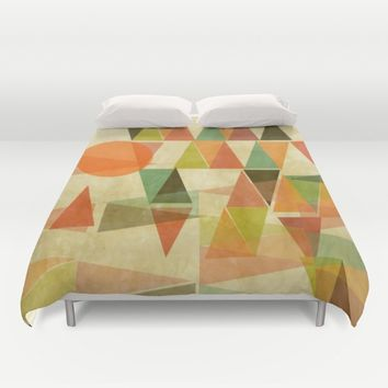 Abstract Landscape Duvet Cover by mirimo