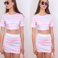Candy Stripe Up Set