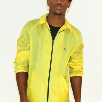 Vintage Lacoste Yellow Lightweight Windbreaker Sz L