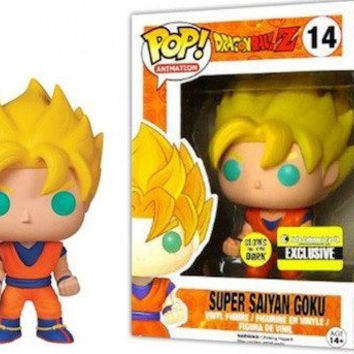 Dragon Ball Z Glow in the Dark Goku Pop! Figure EE Exclusive