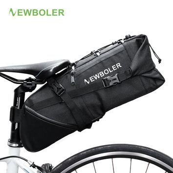 NEWBOLER Bike Bag Bicycle Saddle Bag Pannier Cycle Cycling mtb Bike Seat Bag Bags Accessories 2017 8-10L Waterproof