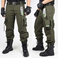 Mens Cargo Pants Overalls Military Tactical Pants Army Green And Black Combat Trouser Clothing For Men