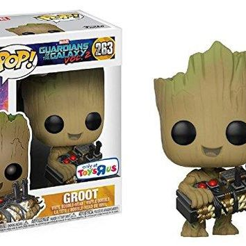 Funko Pop! Marvel Guardians of the Galaxy Vol. 2 Groot #263 (Holding Bomb) Toys R Us Exclusive