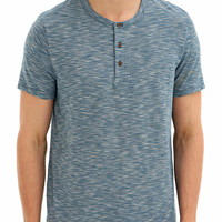 Teal Textured Grandad T-Shirt - View All Offers - Sale & Offers - Burton