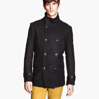 Double-breasted Peacoat - from H&M