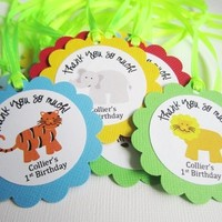 Personalized Safari Animals Favor Tags from Adorebynat
