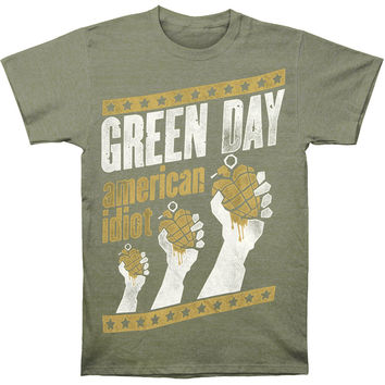 Green Day Men's  Handout Vintage T-shirt Green
