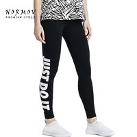 S-XL Women's Leggings Fashion Leggings Letter Print Slim Black Leggings Women Workout Sportswear Ankle Length Leggings Women