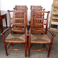 Canonbury - Set 8 English Pad foot Spindle Back Chairs Spindleback
