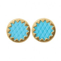 SUNBURST EARRING/ TURQ by HOUSE OF HARLOW 1960