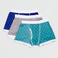 Geometric Pattern 3 Pack underwear - Men's Underwear - Clothing - TOPMAN USA
