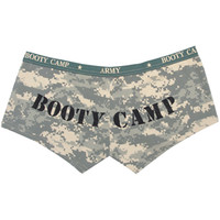 ACU Digital Camouflage - Womens BOOTY CAMP Booty Shorts (Cotton/Spandex) - Army Navy Store