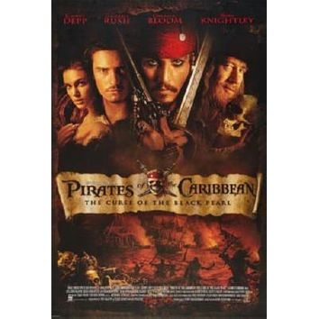 Sale! Pirates Of The Caribbean Curse Of The Black Pearl Movie Poster 24inx36in
