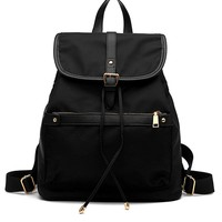 Nylon Foldover Backpack
