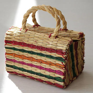 Portuguese Reed Bag, traditional portuguese bag, summer basket, straw bag, sac de paille, panier portugaise, Strohbeutel.