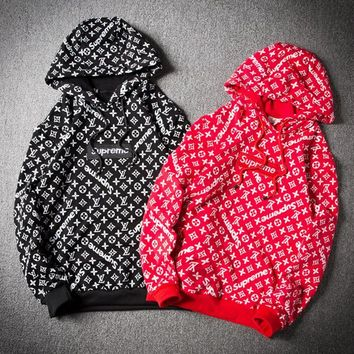 LV Supreme Fashion Hedging pullover Hoodies Sweatshirt