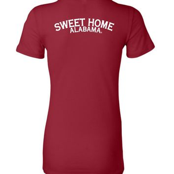 Official NCAA Venley University of Alabama Crimson Tide UA ROLL TIDE! Sweet Home Alabama Ladies Favorite Tee - 35AL-22