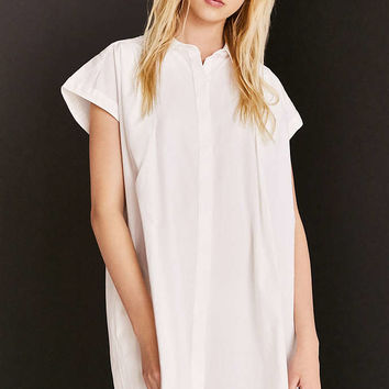 Cooperative Peyton Poplin Button-Down Shirt Mini Dress - Urban Outfitters