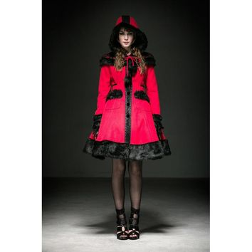 Goth Little Red Riding Hood Wrap Coat Jacket