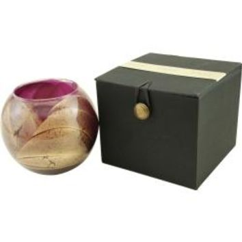 The Inside Of This 4 Inch Polished Globe Is Painted With Wax To Create Swirls Of Gold And Rich Hues And Comes In A Satin Covered Gift Box. Candle Is Filled With A Translucent Wax And Scented With Mysteria. Burns Approx. 50 Hrs
