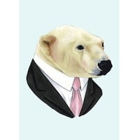 Handmade Gifts | Independent Design | Vintage Goods Corporate Portrait Print - Polar Bear