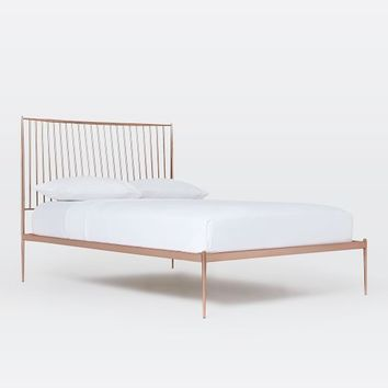 Stella Metal Bed - Rose Gold