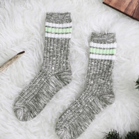 Olive Winter Socks