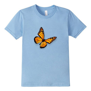 Monarch Butterfly on a Tee Shirt