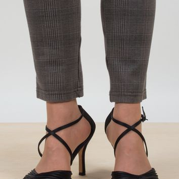 Ruched Ankle Wrap Heels