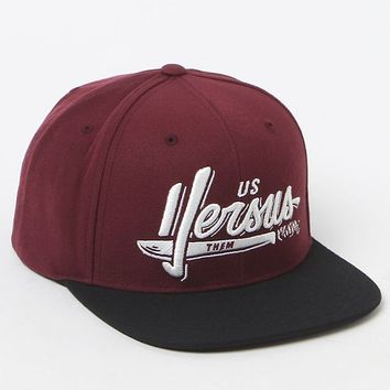 Us Vs.Them Sliced Snapback Hat - Mens Backpack - Red - One