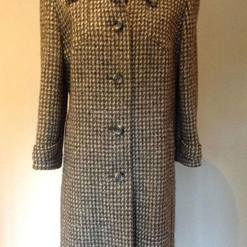 1980s Karner Modell Woman's Tweed Coat - Size Small