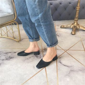 Mona Low Heeled Mules 3 Colors