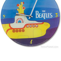 Yellow Submarine Clock | Wall Clocks | RetroPlanet.com