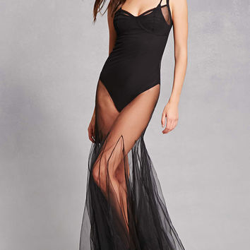 Kikiriki Sheer Tulle Mermaid Dress
