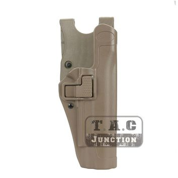 Tactical Serpa Level 2 Auto Lock Duty Right Hand Pistol Gun Holster w/ Jacket Slot Duty Belt Loop for Colt 1911 M1911