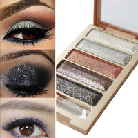 New 5 Color Glitter Eyeshadow Makeup Eye Shadow Palette 2017 Hot product dropshipping