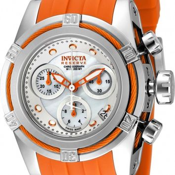 Invicta Reserve Women's Bolt Zeus Swiss Quartz Chronograph Orange Strap Watch....40mm